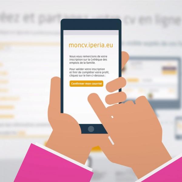 L'outil d'aide à la création de CV en ligne d'IPERIA